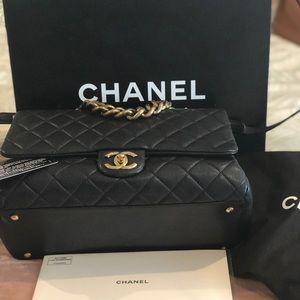 Authentic Chanel Trapezio Flap Bag